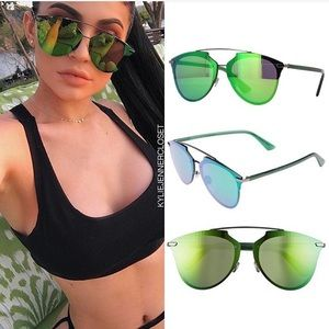 Dior 63mm Reflected Prism Oversized Sunglasses